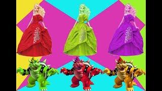 Learn colors Bowser Barbie | Learning of children - 아이들을위한 만화 | 아이들을 위한 애니메이션