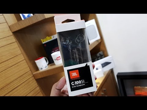 video JBL C100SI in-Ear Headphones with Mic