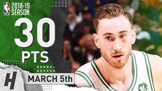 Gordon Hayward Full Highlights Celtics vs Warriors 2019.03.05 - 30 Pts, 4 Ast, 7 Rebounds!