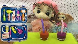 Trò chơi khám bệnh cho búp bê baby l Baby Playing with Doctor Toys for Kids Songs Nursery Rhymes