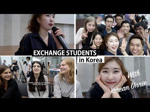 Meeting Exchange Students at Ewha Womans University 이대 교환학생들 앞에서 진행! | 한국언니 Korean Unnie