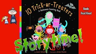 10 Trick or Treaters ~ Halloween Stories for Kids ~ Children's Halloween Books Read Aloud