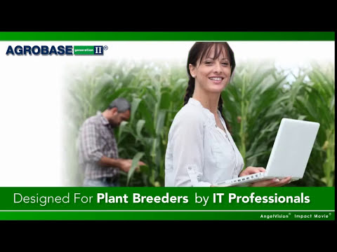Introducing AGROBASE Generation II® Plant Breeding Software