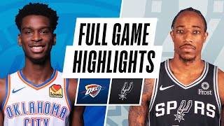 THUNDER at SPURS | FULL GAME HIGHLIGHTS | December 12, 2020