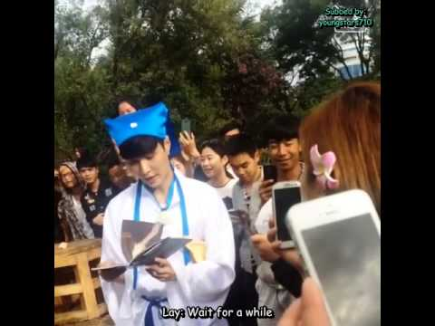 [ENGSUB FANCAM] Lay: Eh, this guy is handsome - Go Fighting Ep 7 Unseen