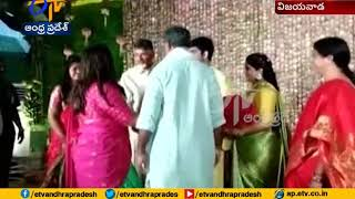 CM Chandrababu attend MP Nani Daughter Marriage..