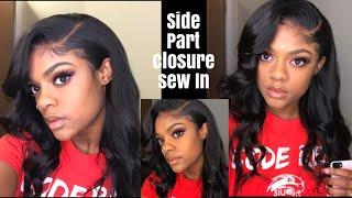 Side Part Closure Sew In DIY ft Alipearl hair