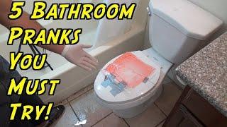 5 Bathroom Pranks You Can Do At Home - HOW TO PRANK (Evil Booby Traps)   Nextraker