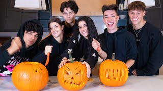 Carving Pumpkins with my Best Friends ft Charli, Noah, James, Chase, & Larray | Dixie D'Amelio