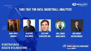 SSAC18: Take That for Data: Basketball Analytics