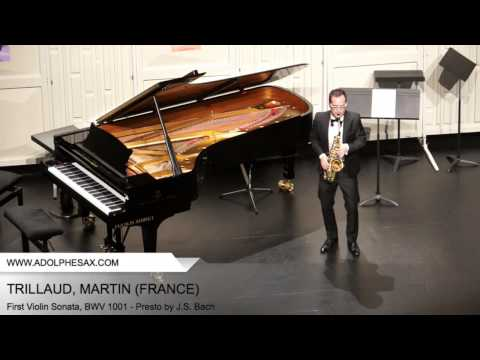 Dinant 2014 - TRILLAUD Martin (First Violin Sonata, BWV 1001 - Presto by J.S. Bach)
