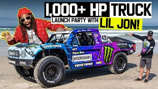 Ken Block Reveals  New 1,100hp Trophy Truck w/ Lil Jon at a Massive Beach Party in Mexico