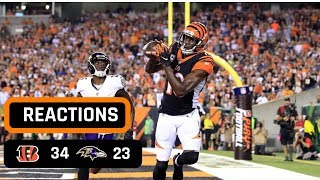 Cincinnati Bengals vs Baltimore Ravens Week 2 Thursday Night Football Recap | AJ GREEN IS A MONSTER!