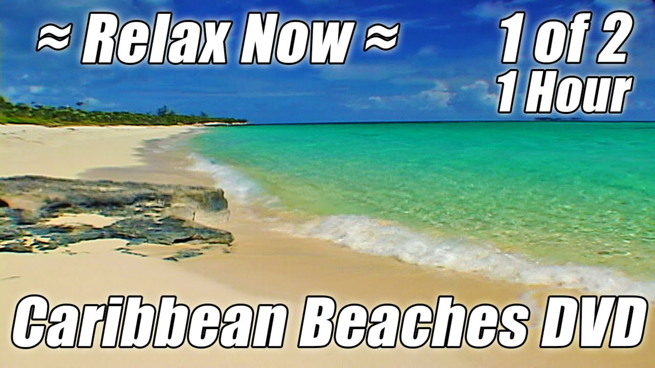 Tropical Island Beach Ambience Sound: MEDITATION OCEAN #1 HOUR Beach Hypnosis Relaxing Nature