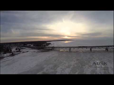 Mackinac bridge captured with UAV - ADSK Solutions