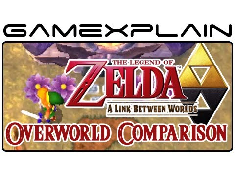 Zelda: A Link Between Worlds & Link To The Past Overworld Comparison 2 (Head-to-Head) - Smashpipe Games