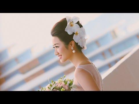 Hoa hậu Thu Ngân hóa thân thành cô dâu xinh đẹp