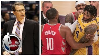 Breaking down Rockets vs Lakers brawl suspensions | SportsCenter