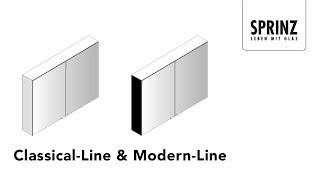 Montagevideo Classical-Line & Modern-Line von SPRINZ