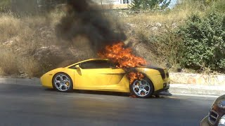 Man Shows Off Car And Bursts Into Flames