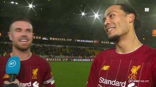 """We keep going, keep fighting!"" Henderson and van Dijk react to Wolves 1-2 Liverpool"
