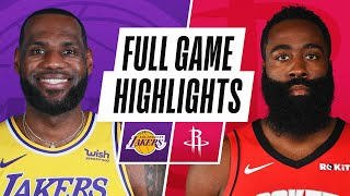 LAKERS at ROCKETS | FULL GAME HIGHLIGHTS | January 12, 2021