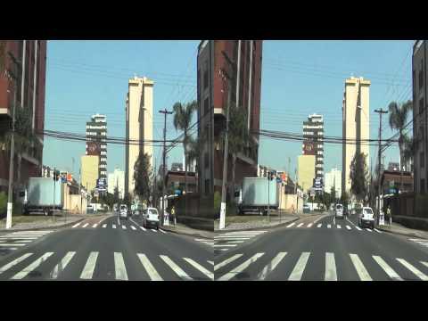 Um Passeio em 3D pelas Ruas de Curitiba - Sony HDR-CX130