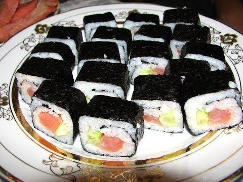 Как сделать суши и роллы дома видео очень