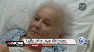 Mailman comes to elderly woman's rescue after fall in Brooklyn home