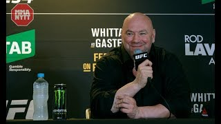 DANA WHITE ARGUES WITH REPORTER OVER INTERIM TITLES   UFC 234