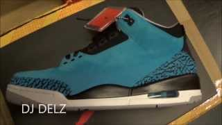2014 Air Jordan Powder Blue 3 III Retro Sneaker Review With @DjDelz Dj Delz