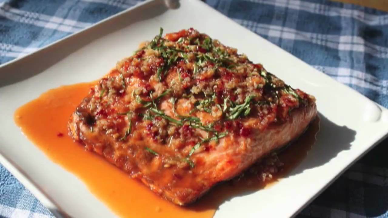 salmon food recipes wishes grilled ginger recipe basil garlic sauce foodwishes fish cooking chef non easy2cook tv bu jnb qtiny