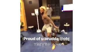 Odell Beckham Jr. Celebrates HUGE Contract In Locker Room With Giants Teammates Part 2