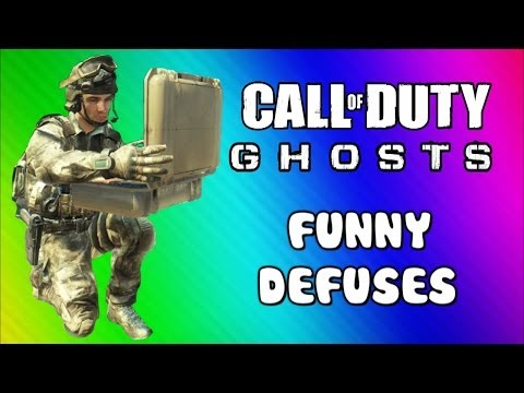 COD Ghosts Ninja Defusing & Riot Shield Fun (Funny Moments, Trap Defuses, Squadmate, & Fails) - Smashpipe Games