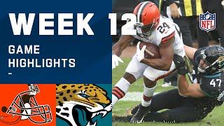 Browns vs. Jaguars Week 12 Highlights | NFL 2020