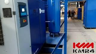 Винтовой компрессор DRE100 IVR с рессиверами 900 литров