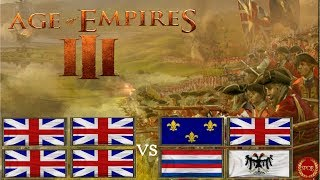 Age of Empires 3 Britenpower im 4vs4 [Deutsch/HD/Gameplay]