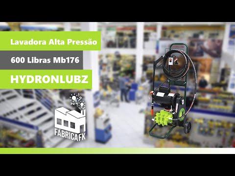 Lavadora Alta Pressão 600 Lbs Móvel Mb176 Jhf4X Hydronlubz - 220V - Vídeo explicativo