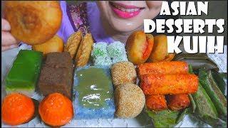 ASMR  DESSERT MALAYSIA KUIH | STICKY RICE CAKES DESSERT | EATING SOUNDS | NO TALKING