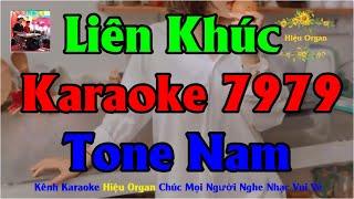 Karaoke 7979 Tổng Hợp Nhạc Sống Tone Nam || Hiệu Organ Guitar 7979