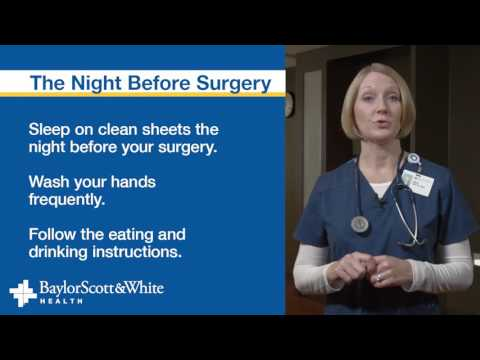 Preparing for Surgery - Baylor Scott & White Health