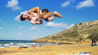 CRAZY BEACH FLIPS IN MALTA!