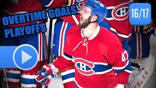 NHL Stanley Cup Playoffs 2017 - Overtime Goals So Far. (HD)