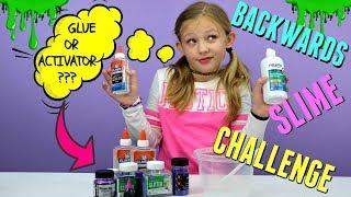 MAKING SLIME BACKWARDS!!! Satisfying Reverse Slime Making Challenge!!!