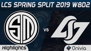 TSM vs CLG Highlights LCS Spring 2019 W8D2 Team Solo Mid vs Counter Logic Gaming LCS Highlights by O