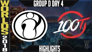 IG vs 100 Highlights | Worlds 2018 Group D Day 4 | Invictus Gaming(LPL) vs 100 Thieves(NALCS)