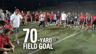 Andrew Baggett | 70-Yard Field Goal | NFL Draft Eligible Kicker