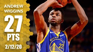 Andrew Wiggins scores 27 points in Warriors vs. Suns | 2019-2020 NBA Highlights