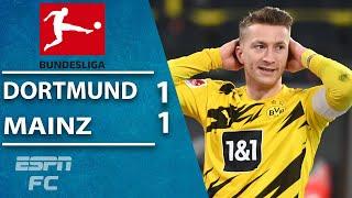 Marco Reus MISSES penalty as Borussia Dortmund stumble vs. Mainz | ESPN FC Bundesliga Highlights