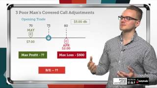 3 Poor Man's Covered Call Adjustments | Options Trading Concepts